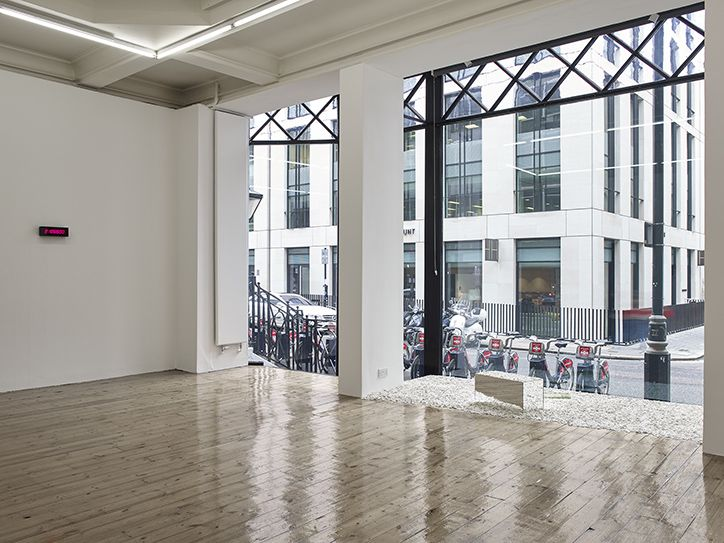 An Exhibition of the Duration of the Exhibition, 1969. Installation view, Absence of the Artist, Sprüth Magers, London 2015